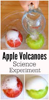 apple volcanoes science experiment