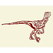 Velociraptor Wall Decal Dinosaur Wall Decal Sticker Mural Vinyl Art Home Decor 3794 Dark Green 47in X 30in Walmart Com