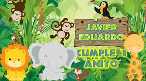 Animales De La Selva Video De Invitacion O Cumpleanos De Para