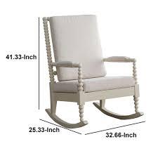 white wooden rocking outdoor chair