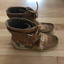 sperry shoes womens leather boots