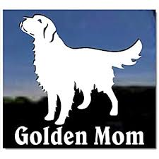 Amazon Com Golden Mom Golden Retriever Vinyl Window Decal Dog Sticker Kitchen Dining
