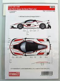 Ferrari Fxx K Dress Up Decal Studio27 Car Model Kit Com