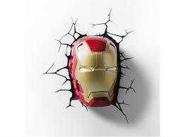 Marvel Comics 3d Led Wall Decal Iron Man Mask