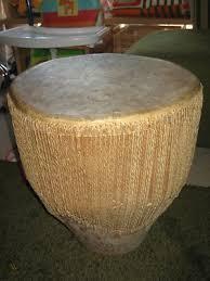 large vintage african drum 43 x 37cm