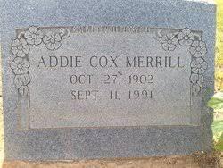 Addie Cox Merrill (1902-1991) - Find A Grave Memorial