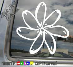Wall Decals Stickers Plumeria Flower Island Girl Tropical Car Auto Window Vinyl Decal Sticker 05020 Tipci Com Ar