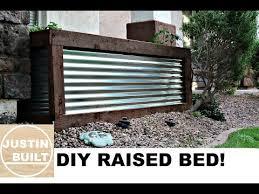 diy corrugated metal raised bed you