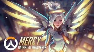 mercy animated wallpaper overwatch