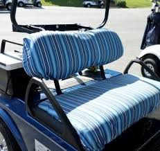 golf cart seat cover styles fabrics