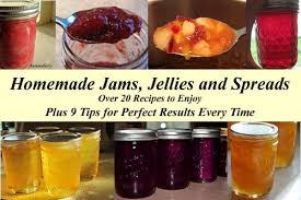 homemade jams jellies and spreads