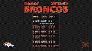 2018 2019 denver broncos wallpaper schedule
