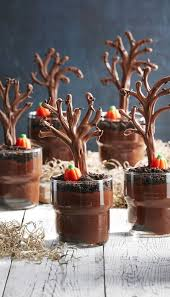 Best Spooky Forest Pudding Cups - How to Make Spooky Forest Pudding Cups