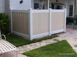 Creative Way To Hide Your Ac Unit With A Vinyl Fence Pool Equipment Cover Outdoor Trash Cans Air Conditioner Covers
