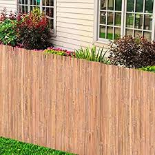 Tidyard Bamboo Fence Bamboo Slat Natural Garden Fence Screening Roll Privacy Border Wind 100 X 400 Cm Amazon Co Uk Kitchen Home