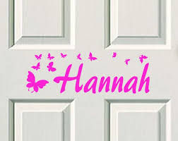 Kids Door Decal Name Decal Name Sticker Butterfly Name Bedroom Door Sticker Wd 1001 By Vinyldzines On Etsy Door Stickers Kids Door Signs Door Decals