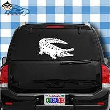 Amazon Com Car Decal Geek Alligator Crocodile Vinyl Decal Sticker Bumper Cling For Car Truck Window Laptop Macbook Wall Cooler Tumbler Die Cut No Background Multi Sizes Colors Green 8 Automotive