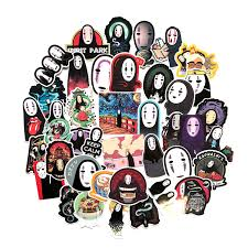 Spirited Away No Face Man Laptop Suitcas Bicycle Luggage Car Sticker Decal Decor