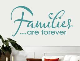 Families Are Forever Wall Quote Sticker Family Wall Quotes Etsy