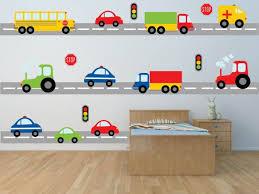 Construction Transportation Car Semi Truck Wall Decals Kids Etsy Kids Wall Decals Boys Wall Decals Wall Decals