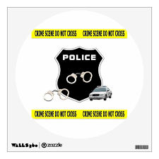 Police Officer Crime Scene Wall Decal Zazzle Com