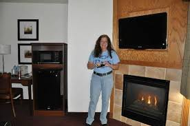 flat screen tv and fireplace picture