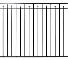 Ez Fence Columbia 5 X 5 10 3 Rail Aluminum Fence Panel At Menards