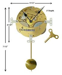 mechanical spring driven clock kit