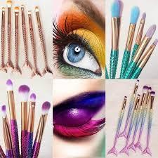 6pcs professional mermaid makeup brush