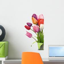 Beautiful Tulips Vase Wall Decal Wallmonkeys Com