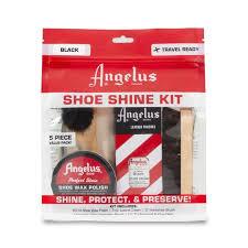 shoe shine kit 1 black polish 1 re