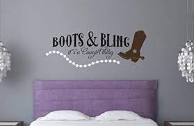 Amazon Com Enchantingly Elegant Western2a Boots Bling Cowboy Thing Vinyl Decal Wall Decor Stickers Words Lettering Western Decor 60x22 60 X 22 Home Kitchen