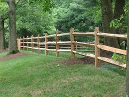 Hardwood Locust Split Rail Fence Backyard Fences Rustic Fence Cedar Fence