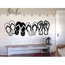 Bayou Breeze Palice Welcome Flip Flops Vinyl Wall Decal Wayfair