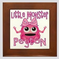 Baby Name Peyton Wall Art Cafepress