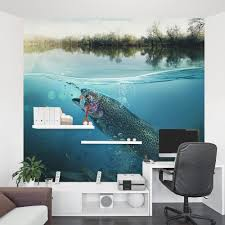 Large Mouth Bass Wall Mural