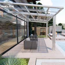 polycarbonate veranda fixed roof