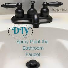 diy spray paint your bathroom faucet