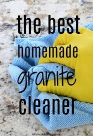 homemade granite cleaner creative