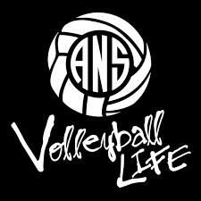 Volleyball Life Custom Monogram Car Sticker Shirt Traveler