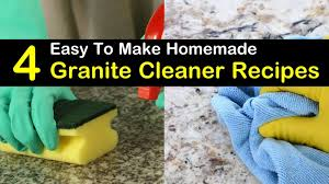 4 easy to make diy granite cleaner recipes