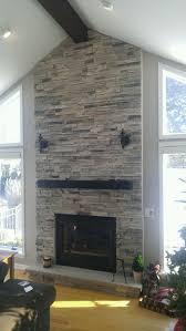 beam mantle with ledgestone