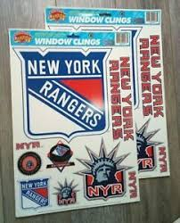 New York Rangers Window Decal Clings Removable Nhl License 11 75 X 16 728502094685 Ebay