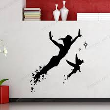 Diy Peter Pan Wall Decal Peter Pan And His Friends Wall Sticker Vinyl Poster For Kids Room Nursery Decoration Accessories Wz167 Wall Stickers Aliexpress