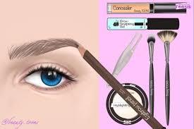 asmr animation eyebrow makeup tutorial