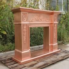 the european modern copper fireplace