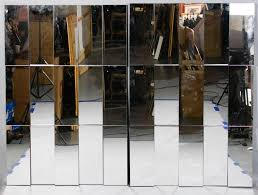 pair of large contemporary wall mirrors