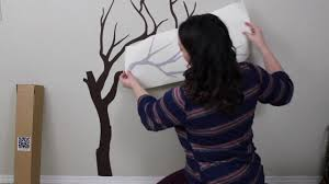 The Decal Guru Japanese Cherry Blossom Tree Wall Decal Application Video Youtube