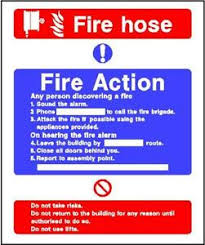 Fire Action 5 200x150mm Sticker Rigid Warning Safety Sign Decal Ebay