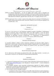 Decreto dipartimentale n. 68 del 6 ottobre 2020 - Miur